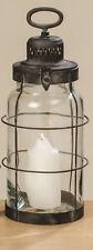 Lanterne Odin Noir Métal Photophore de Jardin 44 cm Vintage Design Retro