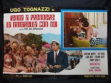 FOTOBUSTA CINEMA- VENGA A PRENDERE LA TINTARELLA CON NOI- TIPI DA SPIAGGIA -1959