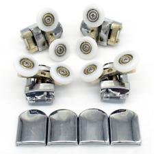 Lot de 4 roulettes doubles de rechange pour porte de douche, roues de 23 mm de d