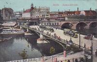 Cartolina circa 14x9 cm Die jannowitzbrücke di ca 1912 (g2086)