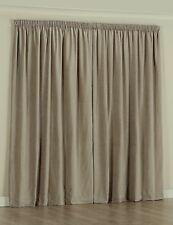 Readymade Curtain - Premium Blockout -  220 - 270cm wide  x 221cm drop - Pebble