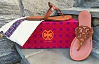 Tory Burch NEW Miller Vintage Vachetta Leather Logo Sandal RUNS .5 SIZE SMALL!