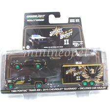 SMOKEY AND THE BANDIT 1980 PONTIAC TRAN AM 2015 SILVERADO 1/64 GREEN MACHINE