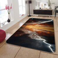 3D Lightning Sky Sea 8 Non Slip Rug Mat Room Mat Quality Elegant Photo Carpet US