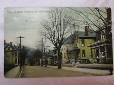 Antique c. 1913 Postcard View of North Chestnut St. Clarksburg, W. Va.