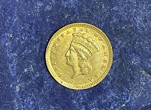 1868 TYPE 3 ONE DOLLAR GOLD COIN RARE NICE DETAIL