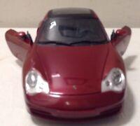 PORSCHE 911 CARRERA S MAROON 1/18 SCALE DIECAST CAR MODEL BY MAISTO