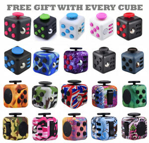 UK Fidget Cube Spinner Toy Children Desk Adults Stress Relief Cubes ADHD Camo