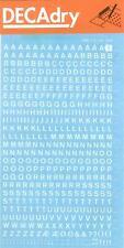 [Ref:DDB1F] DECADRY Lettres Transferts (1 Feuille) DDB1F 4 mm Blanc