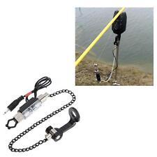 Iron Fishing Bite Alarm Chain Hanger Swinger LED Illuminated Indicator Red D0H7