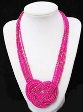 Fashion Multi-Strand Seed Beads Chain Statement Necklace