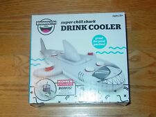 Big Mouth Shark Drink Cooler Inflatable Pool Float Water Raft Boat Gray