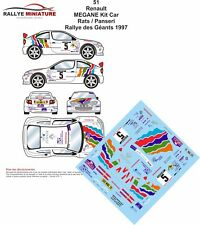 DECALS 1/18 REF 51 RENAULT MEGANE MAXI KIT CAR RATS RALLYE DES GEANTS 1997 RALLY