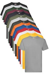 Fruit Of The Loom Plain Cotton Heavy Weight Premium Tee T-Shirt Tshirt S-5XL