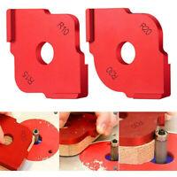 2X Panneau de bois rouge Radius Quick-Jig Router Table Bits Gabarits d/'angle