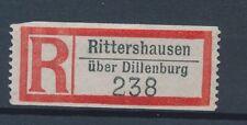 72488) Dt.Reich Reco-Zettel Rittershausen über Dillenburg