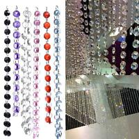 Acrylic Crystal Beads String Curtain Room Divider Door Window Panel Wedding 1M