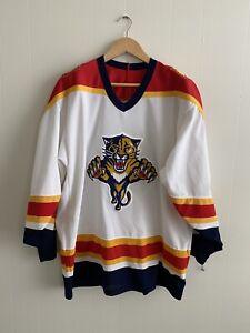 Vintage Florida Panthers CCM Hockey Jersey Size Large