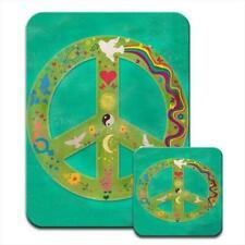 Peace Symbols Nirvana Dove Rainbows Love Mouse Mat / Pad & Coaster