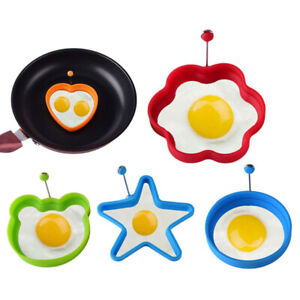 Silicone Fried Egg Shaper Pancake Mold Kitchen Cooking Form For Eggs Tools V_ TC