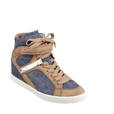 New Authentic Guess Sneakers Perina12 Blue/Tan/White   Size 9