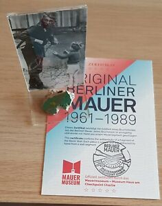 Original Genuine Colorful Piece of The Berlin Wall in Perspex Display with COA