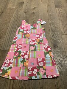 NWT Gymboree Floral Reef Patchwork Dress Size 5 Summer Fun