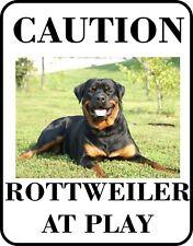 #6 Rottweiler At Play Pet Dog Sign