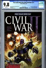FCBD 2016 Civil War II #1 (2016) Marvel CGC 9.8 1st Appearance of Nadia Pym Wasp
