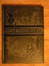 1952 CARTHAGE MO MISSOURI HIGH SCHOOL YEARBOOK JOPLIN VINTAGE GENEALOGY ANCESTRY