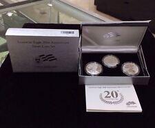 2006 American Eagle 20th Anniversary Silver Three Coin Set