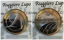 FINLANDIA  5 Euro BIMETALLICO 2016 SPORT SCI DI FONDO UNC FDC