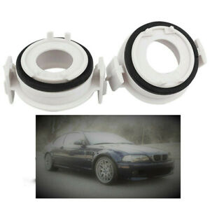 For BMW E46 E90 3 Series 2 Pieces LED H7 Headlight Retainers Holder Bulb Adapter