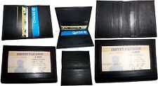 6 Leather business card credit card case ID card ATM card case card holder BNWT