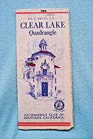 Clear Lake Quadrangle - California - 1947 - Auto Club Southern California