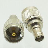 10 x BNC-UHF connector adapter UHF PL-259 Male Plug to BNC Jack Female ST RF New