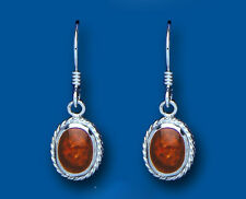 Amber Earrings Sterling Silver Drop