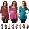 3/4 Sleeved Maternity Top Tunic Pregnancy Clothing Size 8 10 12 14 16 18 5200