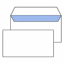 STRONG DL PLAIN 100GSM WHITE ENVELOPES PEEL AND SEAL STRONG PAPER 110MM X 220MM