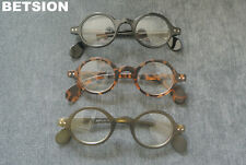 Vintage Small Round Eyeglass Frames Glasses Full Rim Spectacles Eyewear Rx able