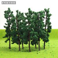 D8030 20pcs O HO Scale Train Layout Iron Wire Model Trees 80mm Railroad Scenery