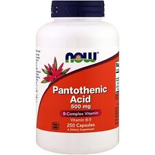Now Foods acido pantotenico - 250 - 500 mg capsule-Complesso Vitamina B