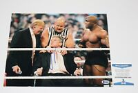WWE OWNER VINCE MCMAHON HAND SIGNED 11x14 PHOTO BECKETT COA DONALD TRUMP BAS