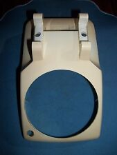 Ivory W.E. Rotary Phone Housing,With Light Hole, For Parts!