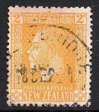 NEW ZEALAND USED 1915 SG442 2d Pale Yellow, Jones Paper