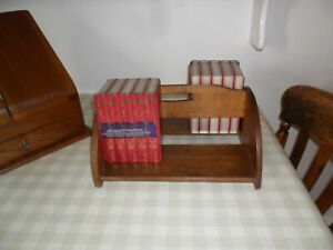 Antique / Vintage Double Sided Wooden Book Trough / Carrier, With Handle