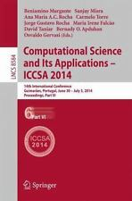 Computational Science and Its Applications - ICCSA 2014 : 14th International...