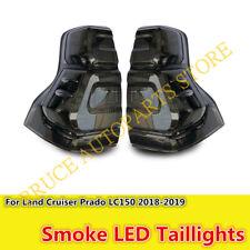 LED Rear Lamps Tail Lights Smoked Black For Toyota Land Cruiser Prado 2018-2019