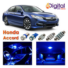 8 x Blue Interior LED Lights Package Kit for 2013 - 2016 2017 2018 Honda Accord
