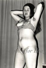 Vintage 1960's photo nude naked lady long hair art artistic dreaming pose 2